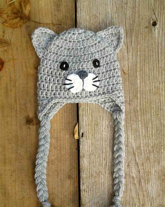 Items Similar To Crochet Cat Hat Baby Kitty Toddler Cat