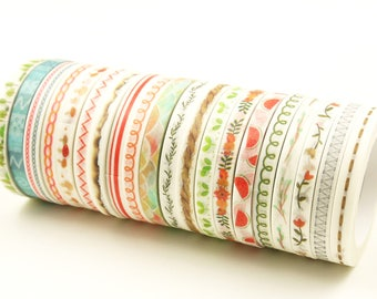 Slim Love - Japanese Washi Masking Tape - 5mm wide - 7.6 yard