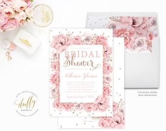 Bridal Shower Invitation, Bridal Shower Invite, Bridal Shower Invitation Printable, Bridal Shower Invitation Floral, Watercolor Invitation
