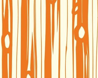 Bear Bois Orange From Birch Organic Fabric's Bear Camp Collection