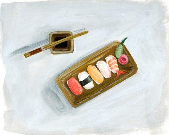 Sushi Print of an original illustration