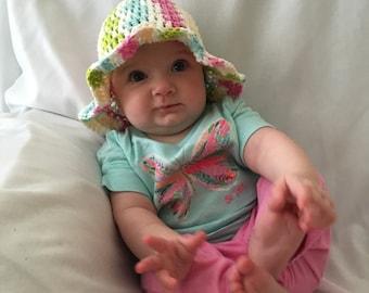 crochet sun hats for babies, toddler sun hat, baby beach hat, girls summer hat, baby hats, wide brim hat, floppy hat, toddler hat, bucket