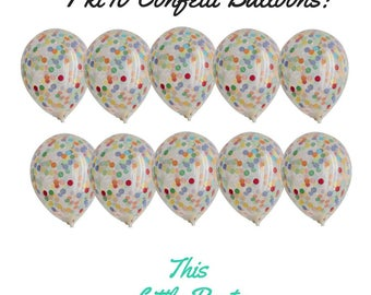 Mini Confetti Balloons 10pk - Party Decoration or Cake Topper