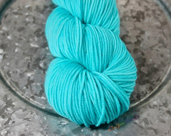 The Yarn Mama, LLC Arctic Ice Cozy Worsted hand dyed yarn indie dyer worsted weight variegated superwash