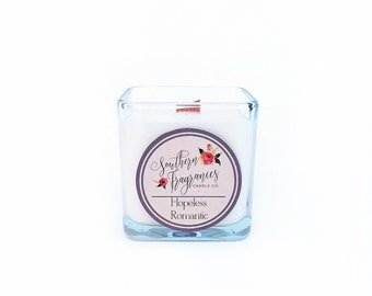 Hopeless Romantic Soy Candle | Wood Wick Candle