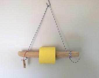 "Dispenser toilet paper Driftwood Beach Sauvage ""Capo di Feno"" blue white"