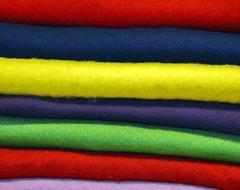Before felt bunt - different colors for felting - 50 cm x 145 cm