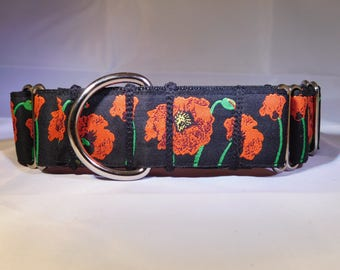 "1.5"" Poppy Martingale Collar"
