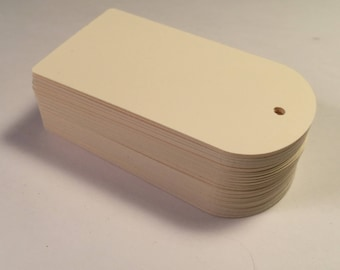 Die Cut, Hang Tags, Cream Blank Tags, Price Tag, Gift Tag, Retail Tag, 110 lb Card Stock CP-1212