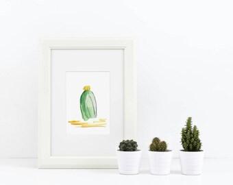 Art de Cactus Aquarelle - Aquarelle Cactus - Cactus Estampe - Art de Cactus Arizona - Arizona Art - Arizona Cactus impression - aquarelle Cactus