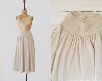 1970s angora skirt / vintage Liz Claiborne creme skirt