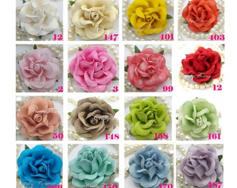 10  Paper Flowers for Baskets Scrapbooks Wedding Faux Cupcake Cards Dolls Crafts Roses Variations Listing of zR77