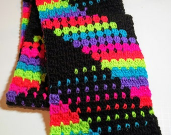 Neon Stripes Scarf - Color Blocking - Neon Blocks - Neon Colors