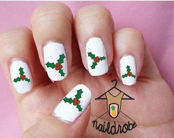30 Mistletoe Christmas Nail Decals