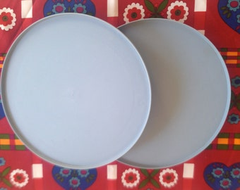 Vintage LAZY SUSAN | Pastel Blue Hard Plastic | Action Industries | Set of Two
