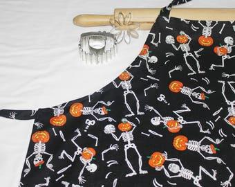 Skeletons Halloween Adult Apron