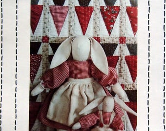 Timeworn Country Rabbits #110 By Country Threads Vintage Sewing And Quilt Pattern Packet 1987