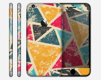 The Chipped Colorful Retro Triangles Skin for the Apple iPhone 6 or 6 Plus