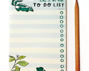 funny christmas gifts, SKUNK to do list NOTEPAD, best christmas gifts, male boss gift, handmade christmas, gifts for men who have everything