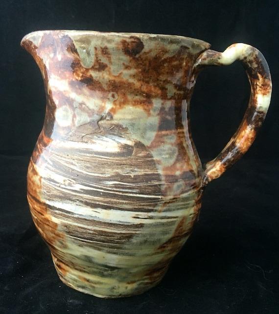 Swirled Ceramic Pitcher