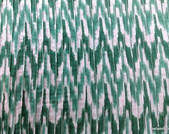 Ikat Print Cotton Fabric Fine Pintuck Fabric by Yard