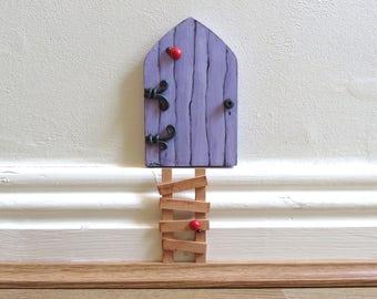 Handmade wooden Fairy Door. Tooth Fairy.