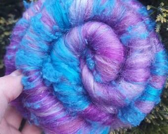 Purple and blue textured  baby batt