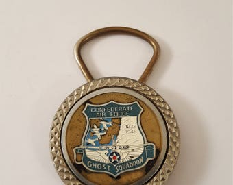 Confederate Air Force Ghost Squadron Key Chain, Aviation, World War 2, Key Fob