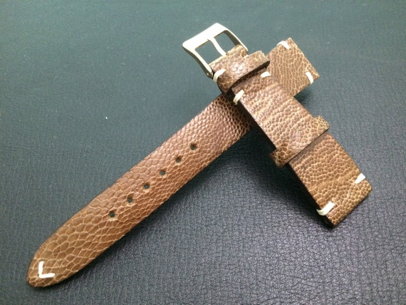 Vintage Ostrich leg Leather  Strap 20mm - Rare, hard to find, Best Quality and Deal Guarantee!!