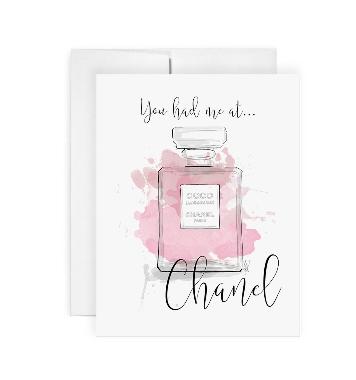 Sie hatte mich bei Chanel Grußkarte Geburtstagskarte nur