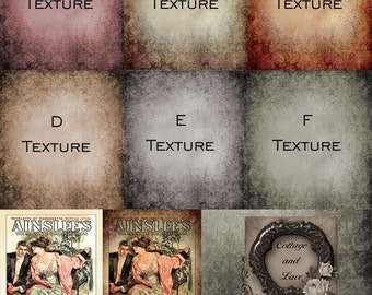 Digital Textures Overlays, Digital Background and Paper Pack   No. 1505