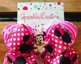 Minnie Mouse 4 inch bow (free shipping)