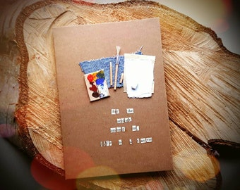 For the artists among us, life is a canvas - Handmade Art Cards
