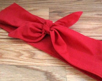 Hair Band, Rockabilly BANDANA, Valentines Day, RED Hair scarf,  Headband, Pinup, RETRO Style, 50s Head Wrap, Hair Tie,Beach #86