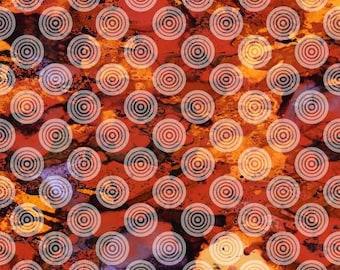 180567 Orange Circles on Texture