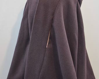 Italian Wool Blend Plum Girls Cape with Glitter Unicorn Lining. Handmade Cloaks, Poncho and Clothing in the Wye Valley,