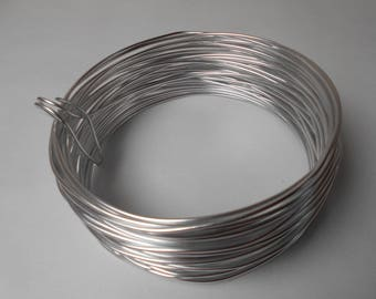 Silver Aluminum wire - width 2 mm - length 1 meter