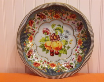 Daher Decorated Ware, metal serving bowl, 1970s, Made in England