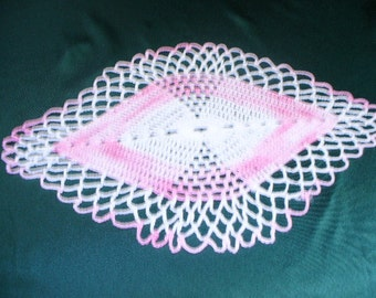 White and Pink Doily