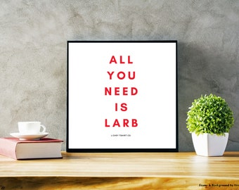 All You Need Is Larb Thai Laos Food Poster
