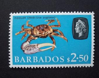 Barbados Stamp 1966 Vintage* Fiddler Crab* Scott #280a MNH