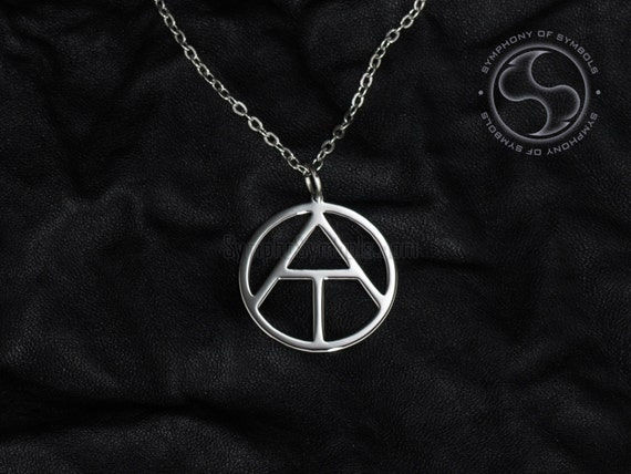 Atheism symbol pendant stainless steel jewelry atheist aloadofball Images