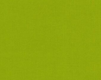 Lime - Kona Cotton - Robert Kaufman 100% solid cotton quilt weight fabric Fat Quarters quilting dressmaking UK Shop K001-1192