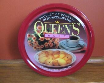 Danish Butter Cookies tin, Queen's Rose