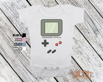 Bodysuit or Toddler Shirt, Gameboy, Baby Bodysuit, Baby Shower Gift, Girls, Boys