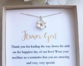 Flower girl necklace, toddler flower girl set, personalized flower girl gift, flower girl jewelry, little girl necklace, child jew