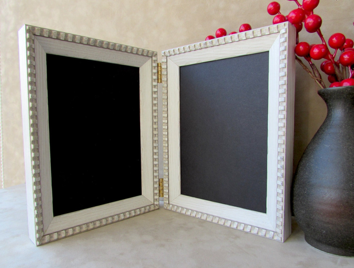 Double or Triple Hinged Photo Frame,Family Photo Frame,Distressed ...