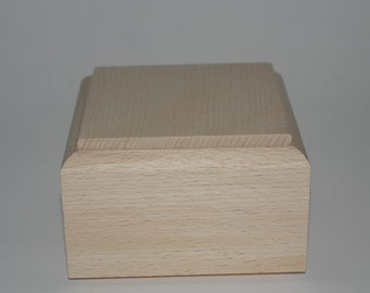Birch box to decorate cm 11.5 x 11.5 x 6