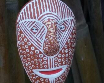 Handmade terra cotta mask