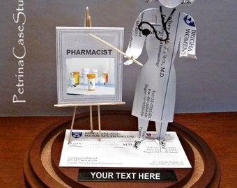 Pharmacist RX Prescription Business Card Sculpture Male or Female -Standing 1587
